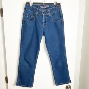 Vintage Silver Jeans stretch Mid Rise Boot Cut 28